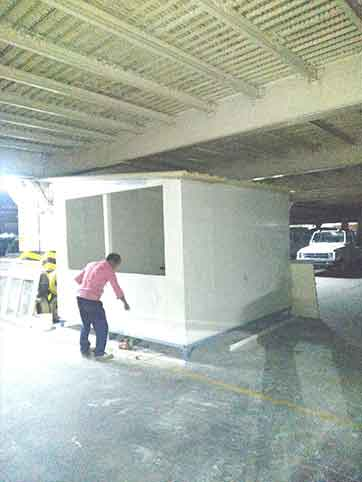 TOLL BOOTH CONTAINER