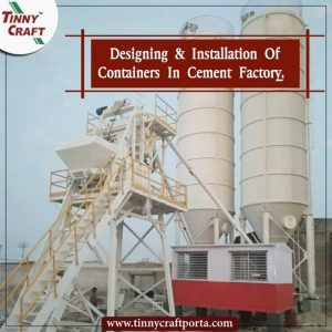 DESIGNING AND INSTALLATION OF CONTAINERS IN CEMENT FACTORY