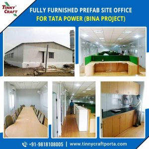 FULLY FURNISHED PREFAB SITE OFFICE FOR TATA POWER BUNA PROJECT